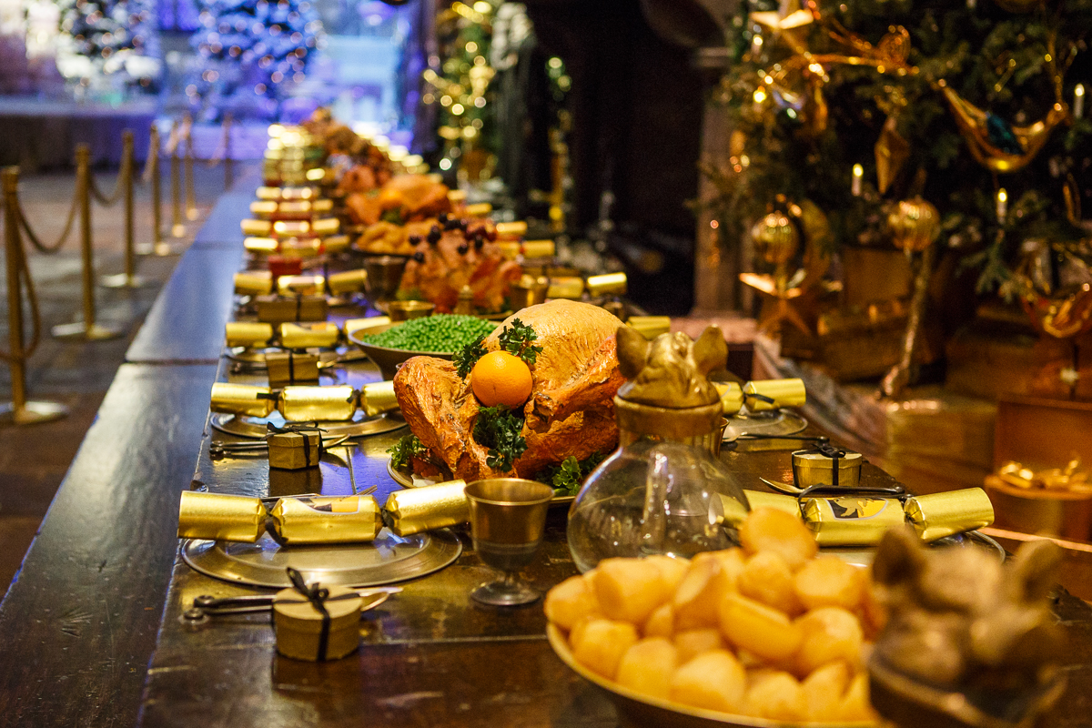 Christmas dinner by Warner Bros. Studio Tour London