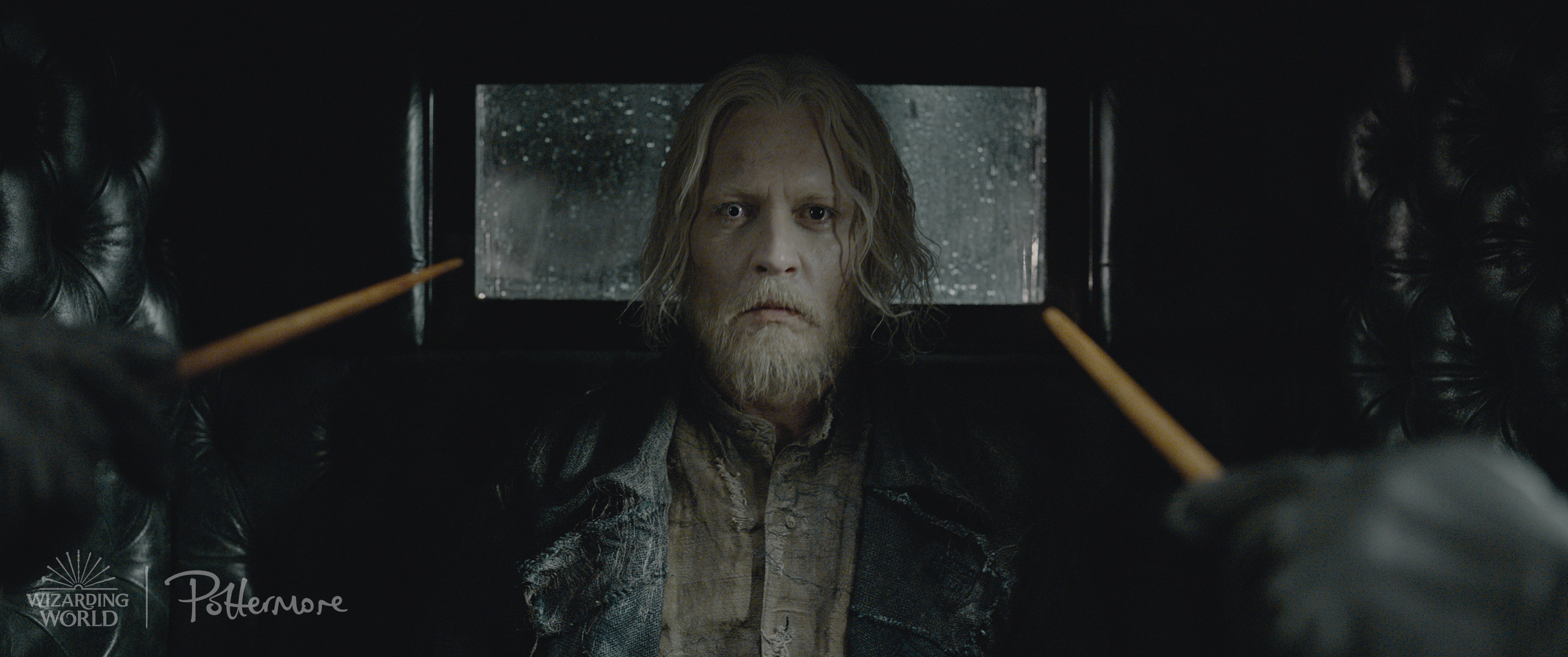 Bearded prisoner Gellert Grindelwald from the Fantastic Beasts: Crimes of Grindelwald trailer