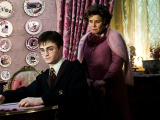 Umbridge giving Harry detention