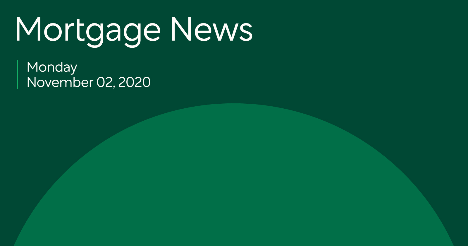 Mortgage News 11/2/20: Post-election rates likely to seesaw