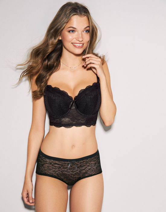 be27b4dad7bbd Fancies Longline Half-Cup Bra in Black by Freya