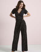 Lydia Jumpsuit in Black/Pink by Bravissimo Clothing
