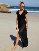Maxi Beachdress in Black by Bravissimo