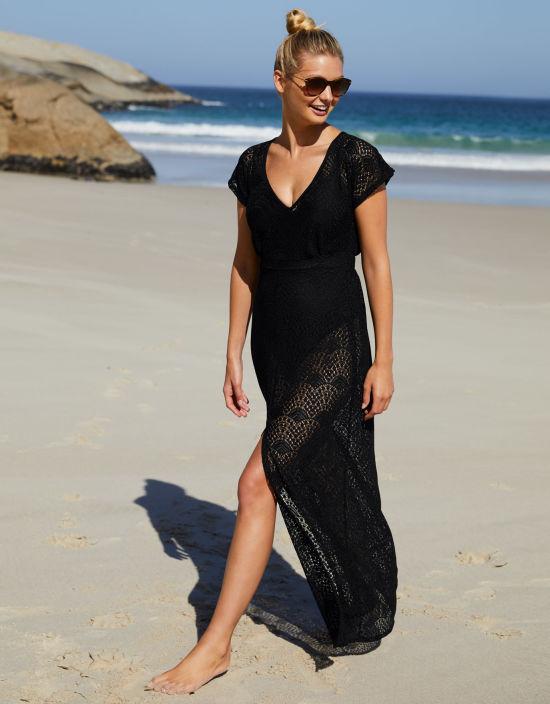 9222f6988da9a Maxi Beachdress in Black by Bravissimo