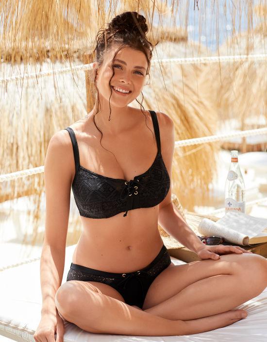 866b54191 Rush Plunge Bikini in Black by Curvy Kate Swim