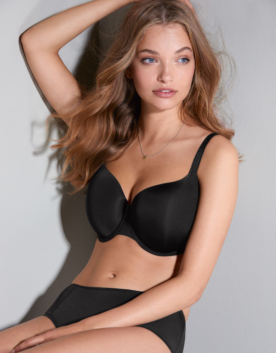 33b81e184a8 Porcelain Elan Balconette Bra in Black by Panache