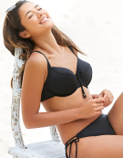 Milano Balconette Bikini Top in Black by Bravissimo