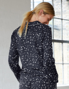 PJ Long Sleeve Shirt PJ Cap Sleeve Top in Navy Star Print by Bravissimo