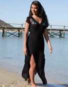 Maxi Beach Dress in Black by Bravissimo