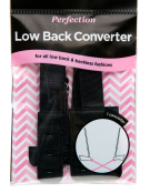 1 or 2 Hook Low Back Converter in Black by Perfection