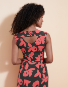 Iris Dress in Charcoal/Coral by Bravissimo Dresses