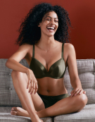 Satine Lace Bra in Khaki by Bravissimo