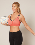 Sonic Spacer Wired Sports Bra in Coral by Freya