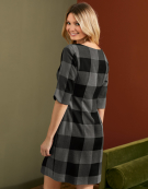 Paige Dress in Black/Grey by Bravissimo Clothing