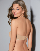 Porcelain Elan Strapless Bra in Nude by Panache