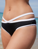 Back To Black Cut Out Brief Bikini Brief in Black/White by Freya