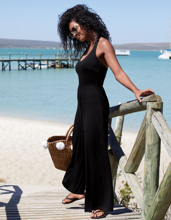 9e70f6baf2c Beach Jumpsuit in Black by Bravissimo