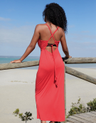 Maxi Beach Dress in Coral by Bravissimo