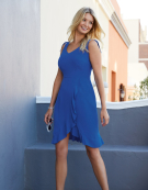 Ruffle Detail Sundress in Cobalt by Bravissimo Clothing