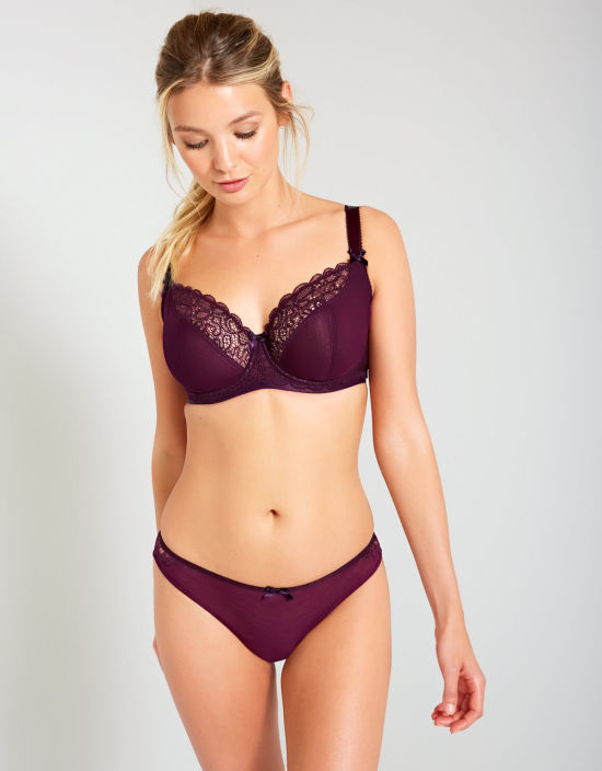 c79e381022b Ellace Balconette Bra in Mulberry by Curvy Kate