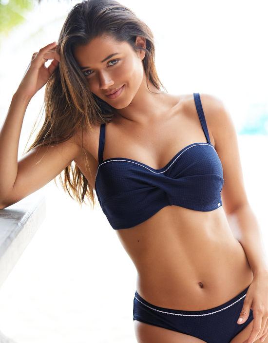 4cc67197ce Anya Voyage Bandeau Bikini Top in Navy by Panache