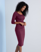 Lily Dress in Aubergine by Bravissimo Clothing