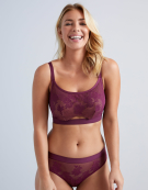 Maya Balconette Bra in Plum by Bravissimo