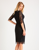 Scallop Lace Dress in Black by Bravissimo Clothing