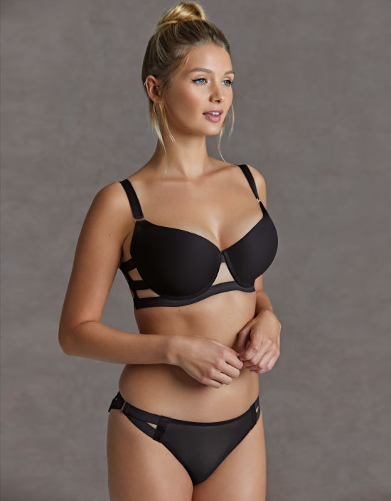 9a95f95cad7a2 Aura Bra in Black by Bluebella