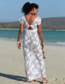 Maxi Beach Dress in White by Bravissimo