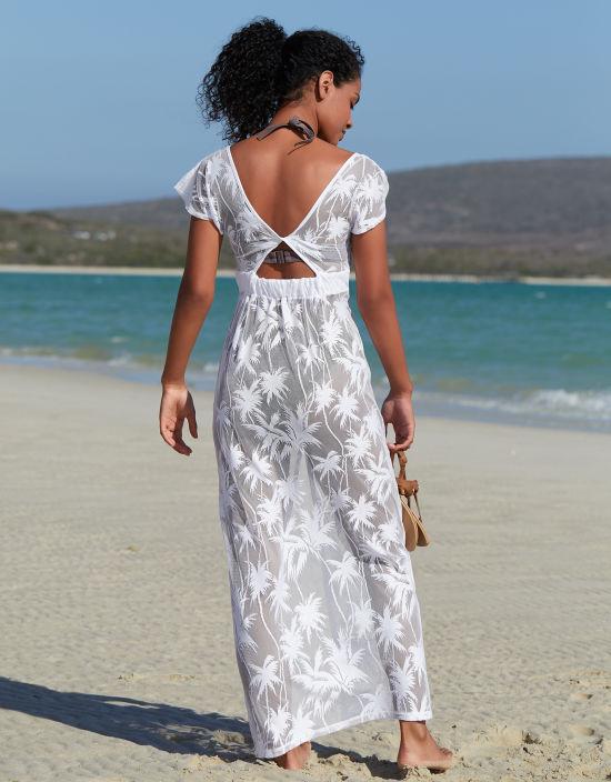 ae1f50e1cd6fb Maxi Beach Dress in White by Bravissimo
