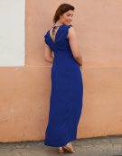 Isabella Maxi Dress in Cobalt by Bravissimo Dresses