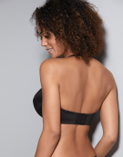 Evie Strapless Bra in Black by Panache