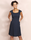 Broderie Day Dress in Navy by Bravissimo Clothing