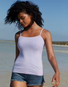 Lightly Padded Vest Top With Built-In Bra in Lavender by Bravissimo