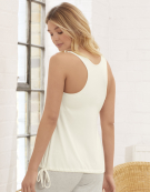 PJ Racerback Top in Ivory by Bravissimo