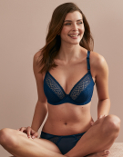 Atlanta Plunge Bra in Petrol Blue by Cleo