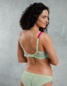 Coco Loco Balconette Bra in Mint/ Pink by Mimi Holliday