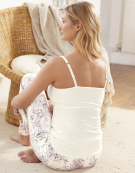 Lace Trim Cami Top PJ Cami Top in Ivory by Bravissimo