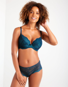 Superboost Lace Plunge Bra in Teal by Gossard