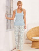 PJ Vest Top in Powder Blue by Bravissimo