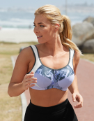 Inspire Wired Sports Bra in Marble Print by Bravissimo