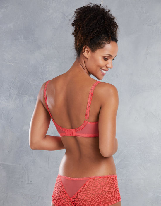 bf2f8913b8 Soiree Lace Plunge Bra in Coral by Freya