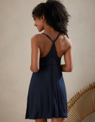 Racerback Cami Nightdress in Navy by Bravissimo