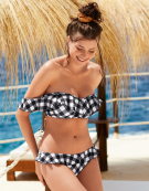 Totally Check Bardot Bandeau Bikini To in Gingham by Freya