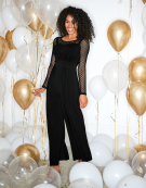 Jessie Jumpsuit in Black by Bravissimo Clothing