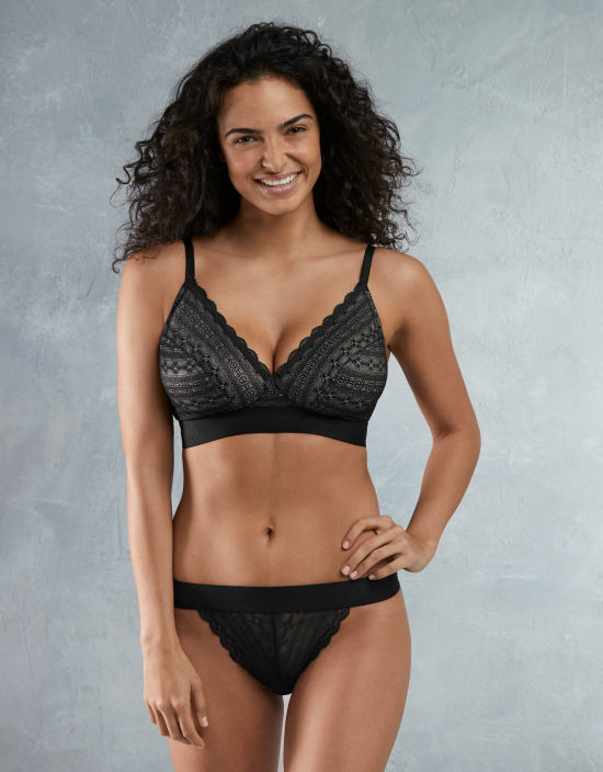 buy half price new product Lyzy Non Wired Bra in Black by Cleo | Bravissimo