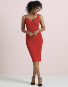 Strappy Leila Dress in Red by Bravissimo Dresses