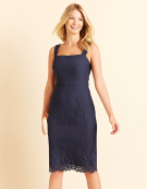 Katy Grid Lace Dress in Navy by Bravissimo Clothing