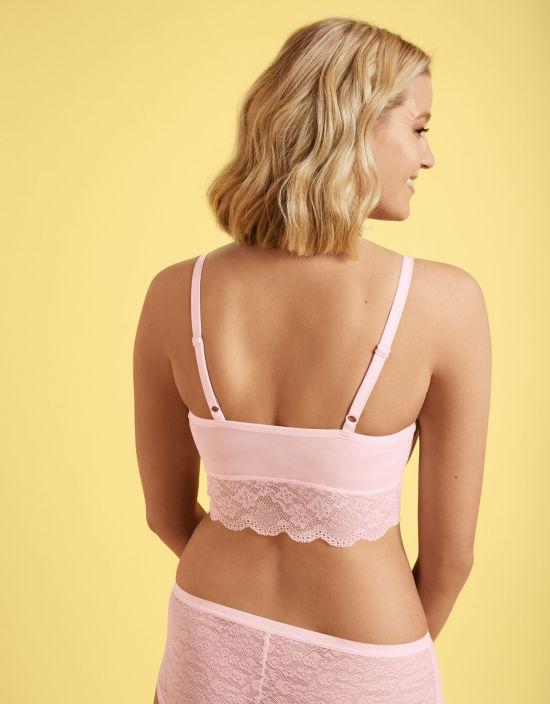 4ae0ef0492 Fancies Non Wired Bralette in Petal Pink by Freya